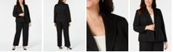 Le Suit Plus Size Elastic-Waist Pants Suit