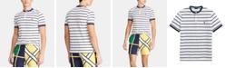 Polo Ralph Lauren Men's Custom Slim Fit Striped Mesh Henley T-Shirt