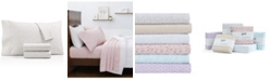 Martha Stewart Collection Printed Microfiber 4-Pc. Queen Sheet Set, Created for Macy's