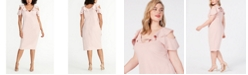 RACHEL Rachel Roy Plus Size Off The Shoulder Ruffle Sleeve Dress