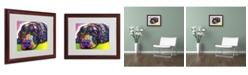 "Trademark Global Dean Russo 'Savvy Labrador' Matted Framed Art - 16"" x 20"" x 0.5"""