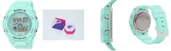 G-Shock Women's Analog-Digital Aqua Resin Strap Watch 42.4mm