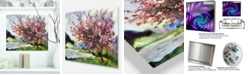 "Design Art Designart 'Tree With Spring Flowers' Floral Metal Wall Art - 20"" X 12"""