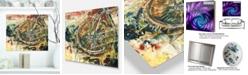 "Design Art Designart 'Mountain Bike Oil Painting' Abstract Metal Artwork - 20"" X 12"""