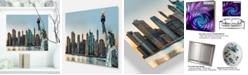 "Design Art Designart 'New York City Skyline Panorama' Photography Metal Wall Art - 20"" X 12"""