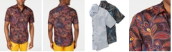 Tasso Elba Men's Stretch Geo Floral-Print Shirt, Created for Macy's