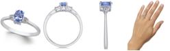 Macy's Tanzanite (1/2 ct. t.w.) & Diamond Accent Ring in 14k White Gold