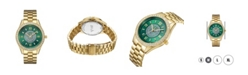 Jbw Women's Mondrian Diamond (1/6 ct.t.w.) 18k Gold Plated Stainless Steel Watch