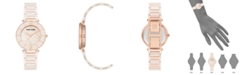 Anne Klein Genuine Mother of Pearl Dial with Swarovski Crystals Watch