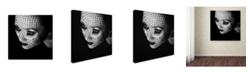 "Trademark Global Oren Hayman 'Black' Canvas Art - 14"" x 14"" x 2"""