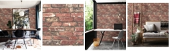 "Brewster Home Fashions Loft Brick Wallpaper - 396"" x 20.5"" x 0.025"""