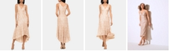 Betsy & Adam Sequined Midi Dress