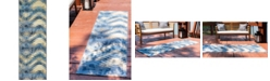 Bridgeport Home Pashio Pas2 Blue 2' x 6' Runner Area Rug