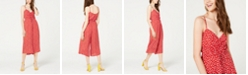Trixxi Juniors' Ditsy Floral Ruched Jumpsuit