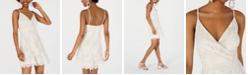 Speechless Juniors' Lace Faux-Wrap Dress