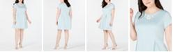 Betsey Johnson Trendy Plus Size Embellished Fit & Flare Dress