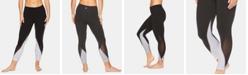 Gaiam Om Karma Colorblocked Mesh-Trimmed Capri Leggings