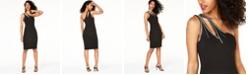 City Studios Juniors' Rhinestone One-Shoulder Dress