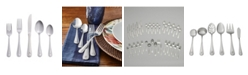 RiverRidge Home Riverridge Beaded 46 Piece Monogrammed Flatware Set - M, Service for 8
