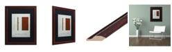 "Trademark Global Christian Jackson 'Three Little Pigs' Matted Framed Art - 16"" x 20"""