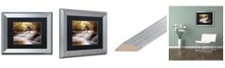 "Trademark Global Jason Shaffer 'Avon Falls' Matted Framed Art - 14"" x 11"""