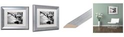 """Trademark Global Jason Shaffer 'Black River' Matted Framed Art - 14"""" x 11"""""""