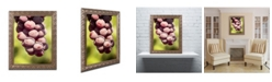 "Trademark Global Jason Shaffer 'Homegrown Grapes' Ornate Framed Art - 11"" x 14"""