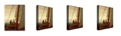 "Trademark Global Caspar David Friedrich 'On Board a Sailing Ship' Canvas Art - 47"" x 30"""