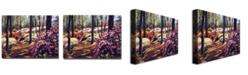 "Trademark Global David Lloyd Glover 'Azalea Forest' Canvas Art - 32"" x 24"""