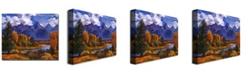 "Trademark Global David Lloyd Glover 'River Valley' Canvas Art - 24"" x 18"""