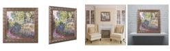 """Trademark Global Monet 'The Japanese Bridge IV' Ornate Framed Art - 16"""" x 16"""""""