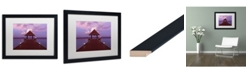 "Trademark Global David Evans 'Crimson Twilight-Maldives' Matted Framed Art - 16"" x 20"""
