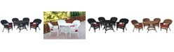 Jeco 5 Piece Wicker Dining Set with Cushion