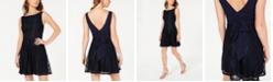 City Studios Juniors' Bow-Back Lace Dress