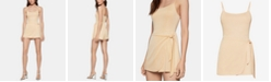 BCBGeneration Ribbed Wrap-Front Romper