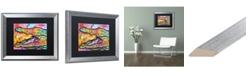 """Trademark Global Dean Russo 'Croc' Matted Framed Art - 16"""" x 20"""""""