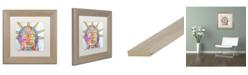 """Trademark Global Dean Russo 'Buddha Liberty' Matted Framed Art - 11"""" x 11"""""""