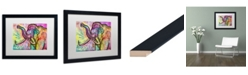 "Trademark Global Dean Russo 'Woolly Mammoth' Matted Framed Art - 16"" x 20"""