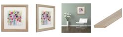 """Trademark Global Carrie Schmitt 'Joie de Vivre' Matted Framed Art - 16"""" x 16"""""""