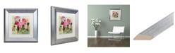 """Trademark Global Carrie Schmitt 'Entre Nous' Matted Framed Art - 11"""" x 11"""""""