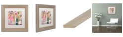 """Trademark Global Carrie Schmitt 'Pink Melody' Matted Framed Art - 11"""" x 11"""""""
