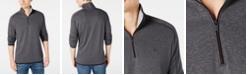 DKNY Men's Supima Cotton Quarter-Zip Sweater