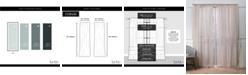 "Exclusive Home Nicole Miller Belfry Sheer Rod Pocket Top 50"" X 96"" Curtain Panel Pair"