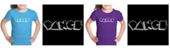 LA Pop Art Girl's Word Art T-Shirt - Different Styles of Dance