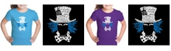 LA Pop Art Girl's Word Art T-Shirt - The Mad Hatter