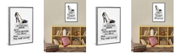 """iCanvas White Fashion Books with Black Heels by Amanda Greenwood Gallery-Wrapped Canvas Print - 26"""" x 18"""" x 0.75"""""""