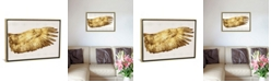 """iCanvas Golden Wing Ii by Kate Bennett Gallery-Wrapped Canvas Print - 26"""" x 40"""" x 0.75"""""""