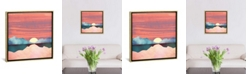 """iCanvas Pink Oasis by Spacefrog Designs Gallery-Wrapped Canvas Print - 18"""" x 18"""" x 0.75"""""""
