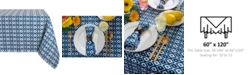 "Design Imports Ikat Outdoor Tablecloth 60"" x 120"""