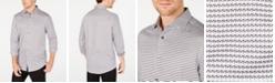 Tasso Elba Men's Stretch Houndstooth Dobby Shirt, Created for Macy's